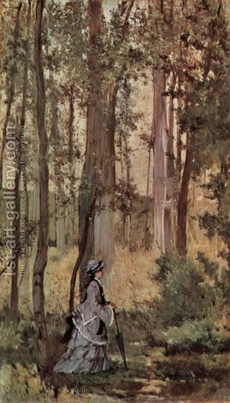 Lady in the forest by Giovanni Fattori - Reproduction Oil Painting