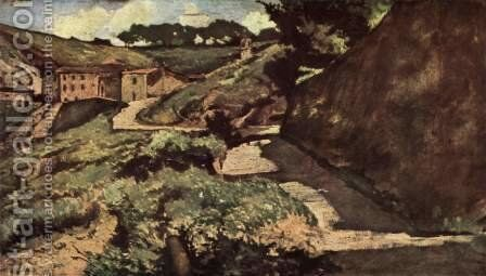 Road salt by Giovanni Fattori - Reproduction Oil Painting