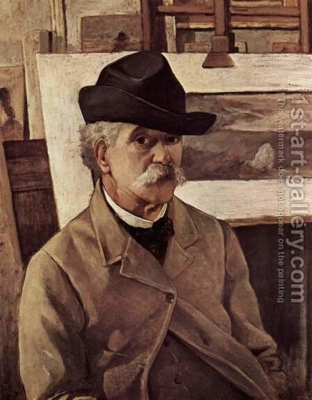 Self-portrait with sixty years by Giovanni Fattori - Reproduction Oil Painting