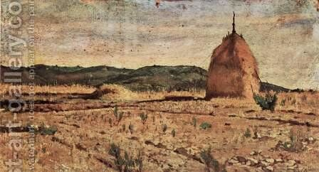 The haystack by Giovanni Fattori - Reproduction Oil Painting