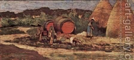 The red barrels by Giovanni Fattori - Reproduction Oil Painting