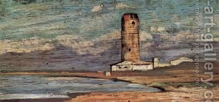 The tower of Marzocco by Giovanni Fattori - Reproduction Oil Painting
