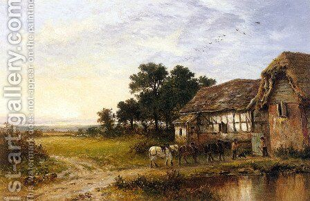 Returning Home 2 by Benjamin Williams Leader - Reproduction Oil Painting