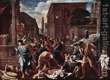 The Plague of Ashdod by Nicolas Poussin - Reproduction Oil Painting