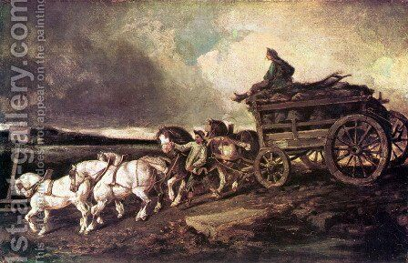 Coal cars by Theodore Gericault - Reproduction Oil Painting