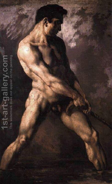 nude man by Theodore Gericault - Reproduction Oil Painting
