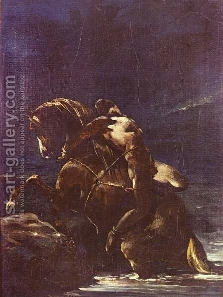 The Page Mazeppa by Theodore Gericault - Reproduction Oil Painting