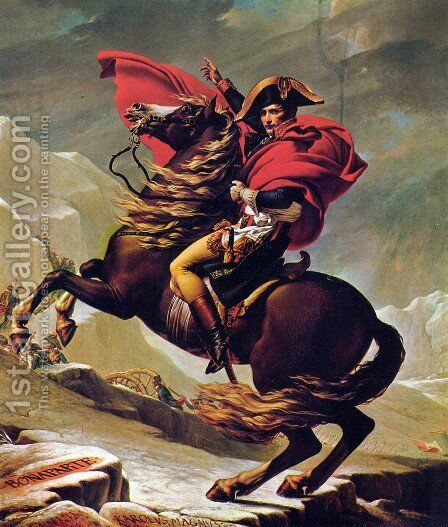Napoleon Crossing the Alps 2 by Jacques Louis David - Reproduction Oil Painting