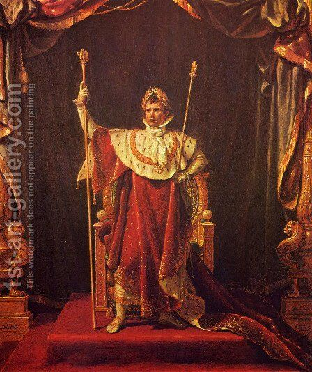 Portrait of Napoleon in imperial garb by Jacques Louis David - Reproduction Oil Painting