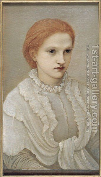 Lady Francis Balfour 2 by Sir Edward Coley Burne-Jones - Reproduction Oil Painting