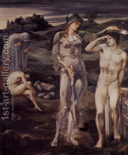 The appointment of Perseus by Sir Edward Coley Burne-Jones - Reproduction Oil Painting