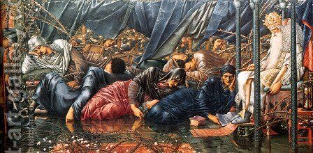 The Council Chamber Buscot Park by Sir Edward Coley Burne-Jones - Reproduction Oil Painting