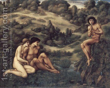 The Garden of Pan 2 by Sir Edward Coley Burne-Jones - Reproduction Oil Painting