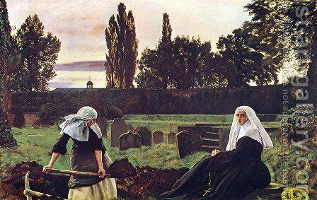 The valley of silence by Sir John Everett Millais - Reproduction Oil Painting