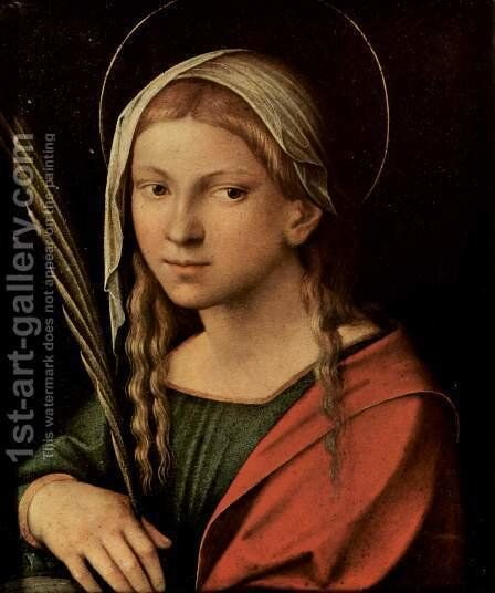 St. Catherine of Alexandria by Correggio (Antonio Allegri) - Reproduction Oil Painting