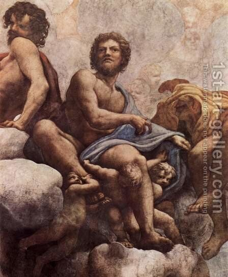 The vision of St. John in Patmos, detail, St. Philip and St. Thaddeus by Correggio (Antonio Allegri) - Reproduction Oil Painting