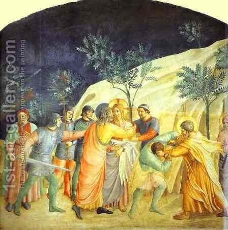 Arrest of Christ by Angelico Fra - Reproduction Oil Painting
