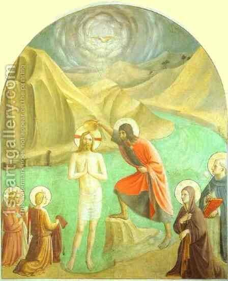 Baptism of Christ by Angelico Fra - Reproduction Oil Painting