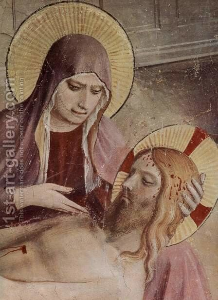 Burial of Christ, detail by Angelico Fra - Reproduction Oil Painting