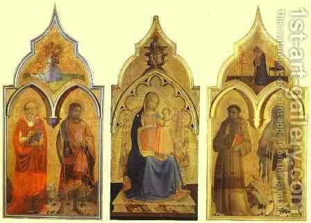 Certosa del Galluzzo Triptych by Angelico Fra - Reproduction Oil Painting