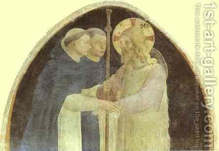 Christ as Pilgrim Received by Two Dominicans by Angelico Fra - Reproduction Oil Painting