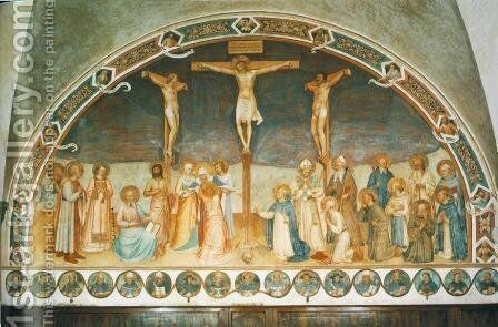 Crucifixion and Saints by Angelico Fra - Reproduction Oil Painting