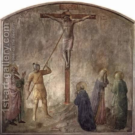 Crucifixion with Lanzen Bite of the captain Longinus by Angelico Fra - Reproduction Oil Painting