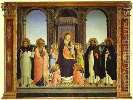Fiesole Triptych by Angelico Fra - Reproduction Oil Painting