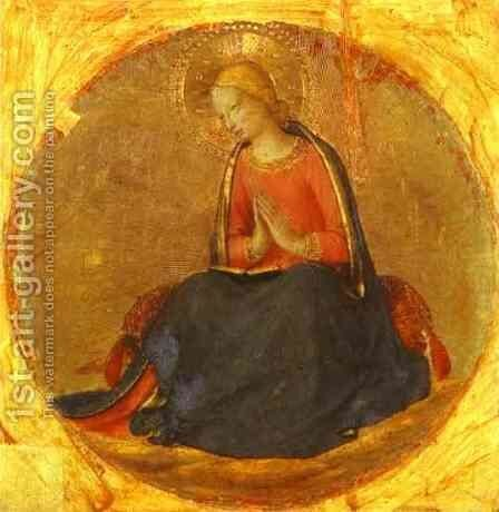 Perugia Triptych; The Virgin from the Annunciation by Angelico Fra - Reproduction Oil Painting