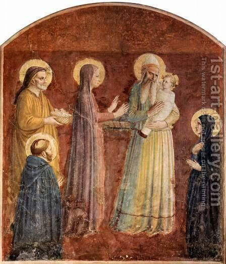 Presentation in the Temple by Angelico Fra - Reproduction Oil Painting