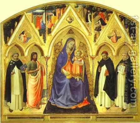 San Pietro Martire Triptych by Angelico Fra - Reproduction Oil Painting