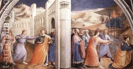 Scenes from the Life of St Stephen by Angelico Fra - Reproduction Oil Painting
