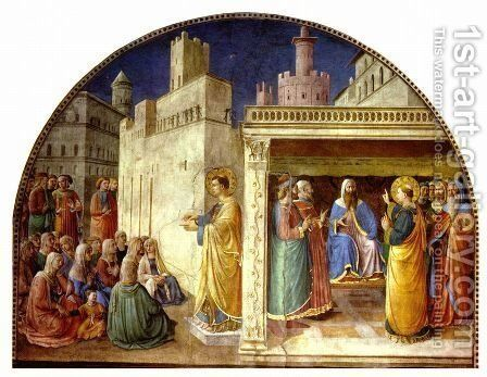 St. Stephen Preaching by Angelico Fra - Reproduction Oil Painting