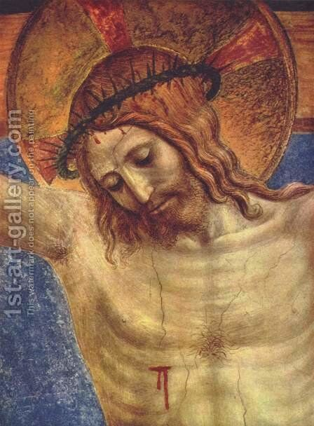 The Crucified and San Domenico, detail by Angelico Fra - Reproduction Oil Painting
