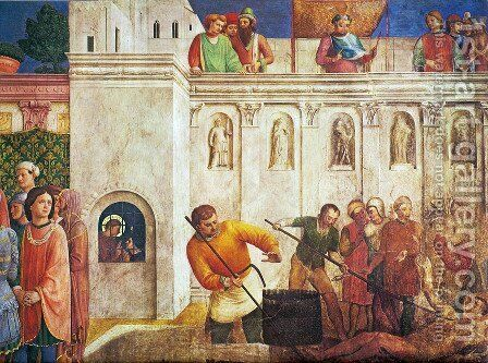 The Martyrdom of St. Lawrence (detail) by Angelico Fra - Reproduction Oil Painting