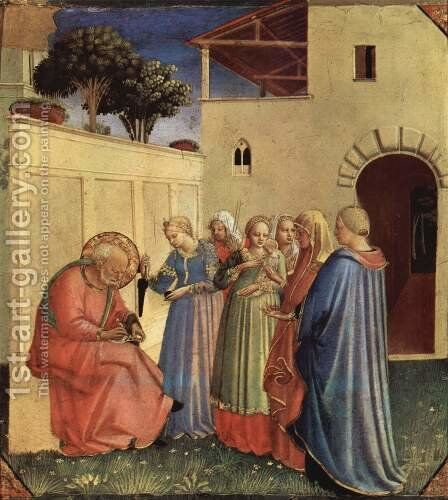 The Naming of St. John the Baptist by Angelico Fra - Reproduction Oil Painting