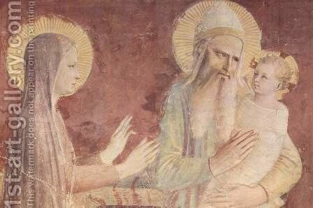 The presentation in the temple, detail by Angelico Fra - Reproduction Oil Painting