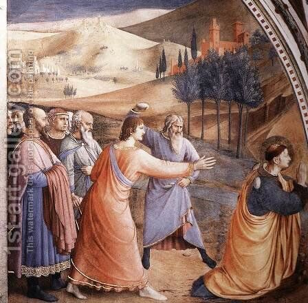 The Stoning of St Stephen by Angelico Fra - Reproduction Oil Painting
