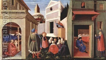 Triptych of Perugia (predella) by Angelico Fra - Reproduction Oil Painting