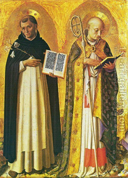 Triptych of Perugia. The Saints Sunday and Nicolas de Bari by Angelico Fra - Reproduction Oil Painting