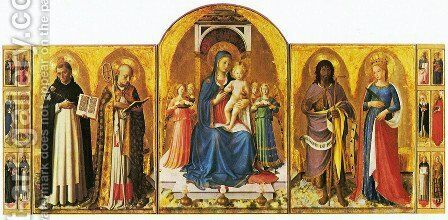 Triptych of Perugia by Angelico Fra - Reproduction Oil Painting