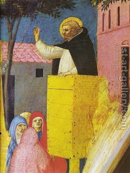 Triptych St. Peter Martyr (detail) by Angelico Fra - Reproduction Oil Painting