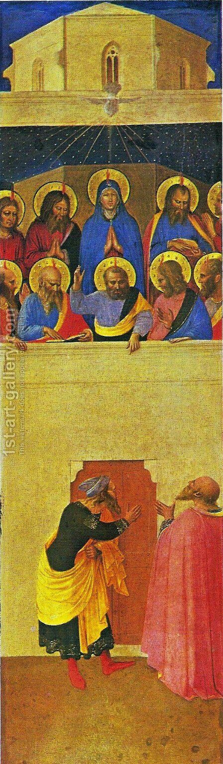 Universal Judgement Triptych 1 by Angelico Fra - Reproduction Oil Painting
