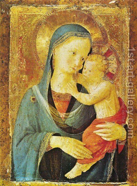 Virgin with the child by Angelico Fra - Reproduction Oil Painting
