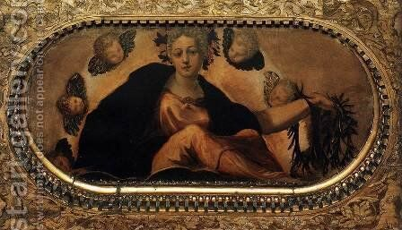 Allegory of Fortune (Felicità) by Jacopo Tintoretto (Robusti) - Reproduction Oil Painting
