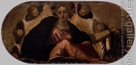 Allegory of Happiness by Jacopo Tintoretto (Robusti) - Reproduction Oil Painting