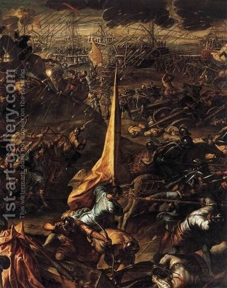 Conquest of Zara by Jacopo Tintoretto (Robusti) - Reproduction Oil Painting
