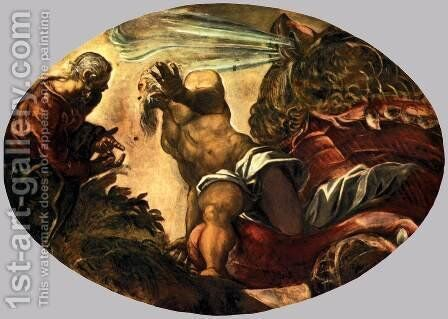 Jonah Leaves the Whale's Belly by Jacopo Tintoretto (Robusti) - Reproduction Oil Painting