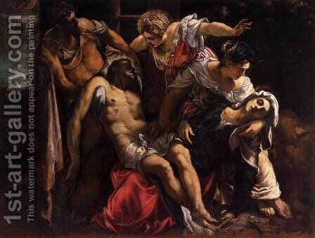 Lamentation over the Dead Christ by Jacopo Tintoretto (Robusti) - Reproduction Oil Painting