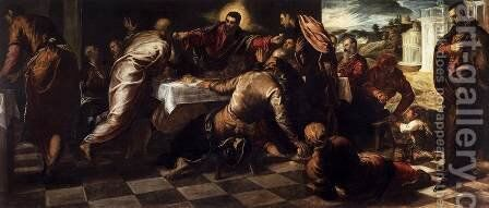Last Supper 3 by Jacopo Tintoretto (Robusti) - Reproduction Oil Painting